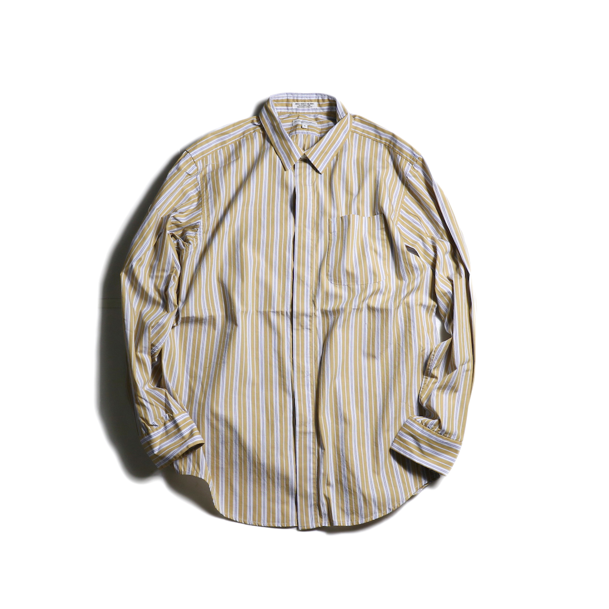 Engineered Garments / Short Collar Shirt -Multi St. Broadcloth (Tan)