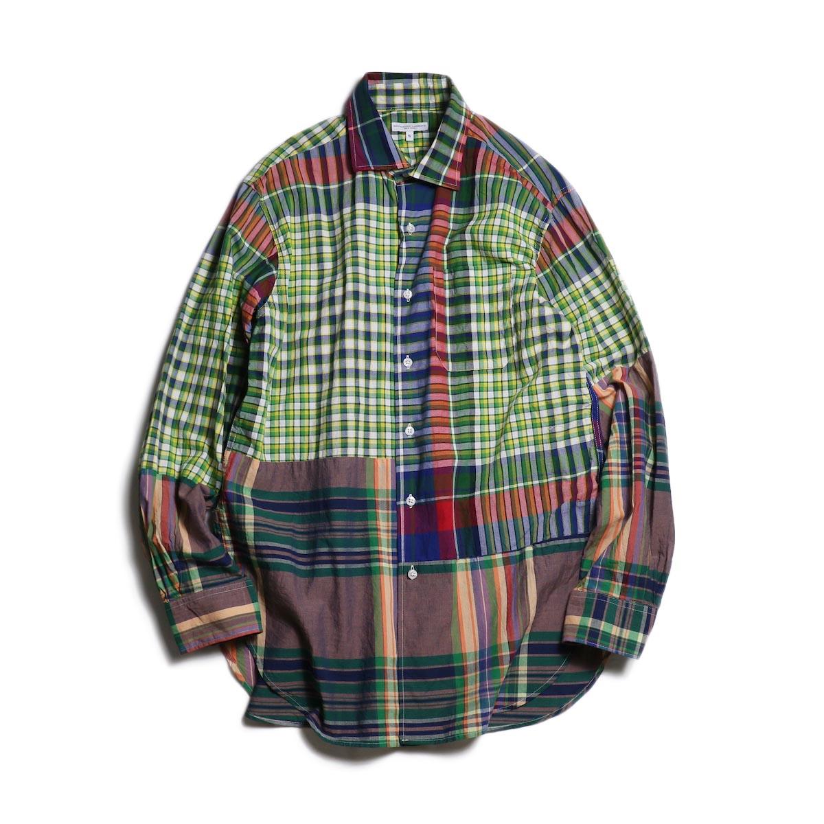 Engineered Garments / Spread Collar Shirt -Big Madras Plaid (Red/Blue/Green)