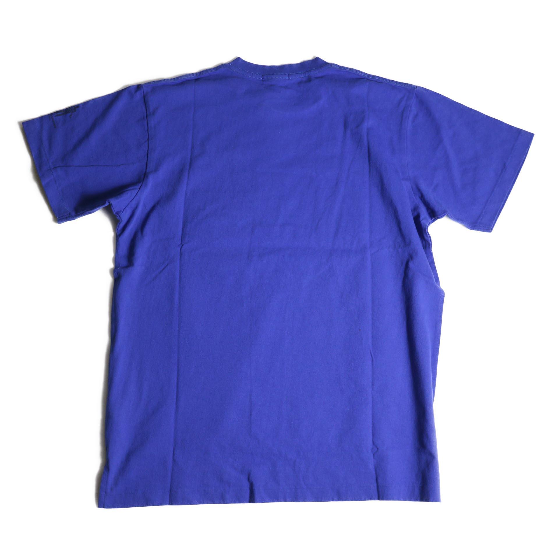 Engineered Garments / Printed Cross Crew Neck T-shirt -Normal (Royal)背面