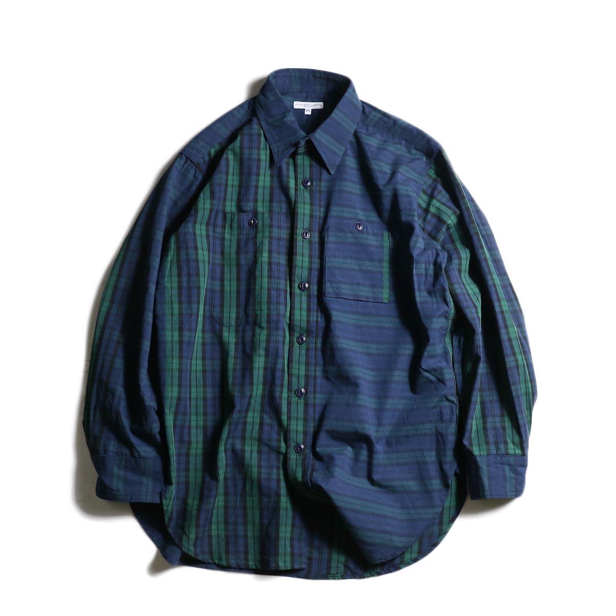 Engineered Garments / Work Shirt -Big Repeat Madras (Black Watch)