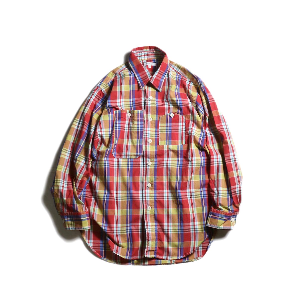 Engineered Garments / Work Shirt -Plaid Broadcloth (Red)正面