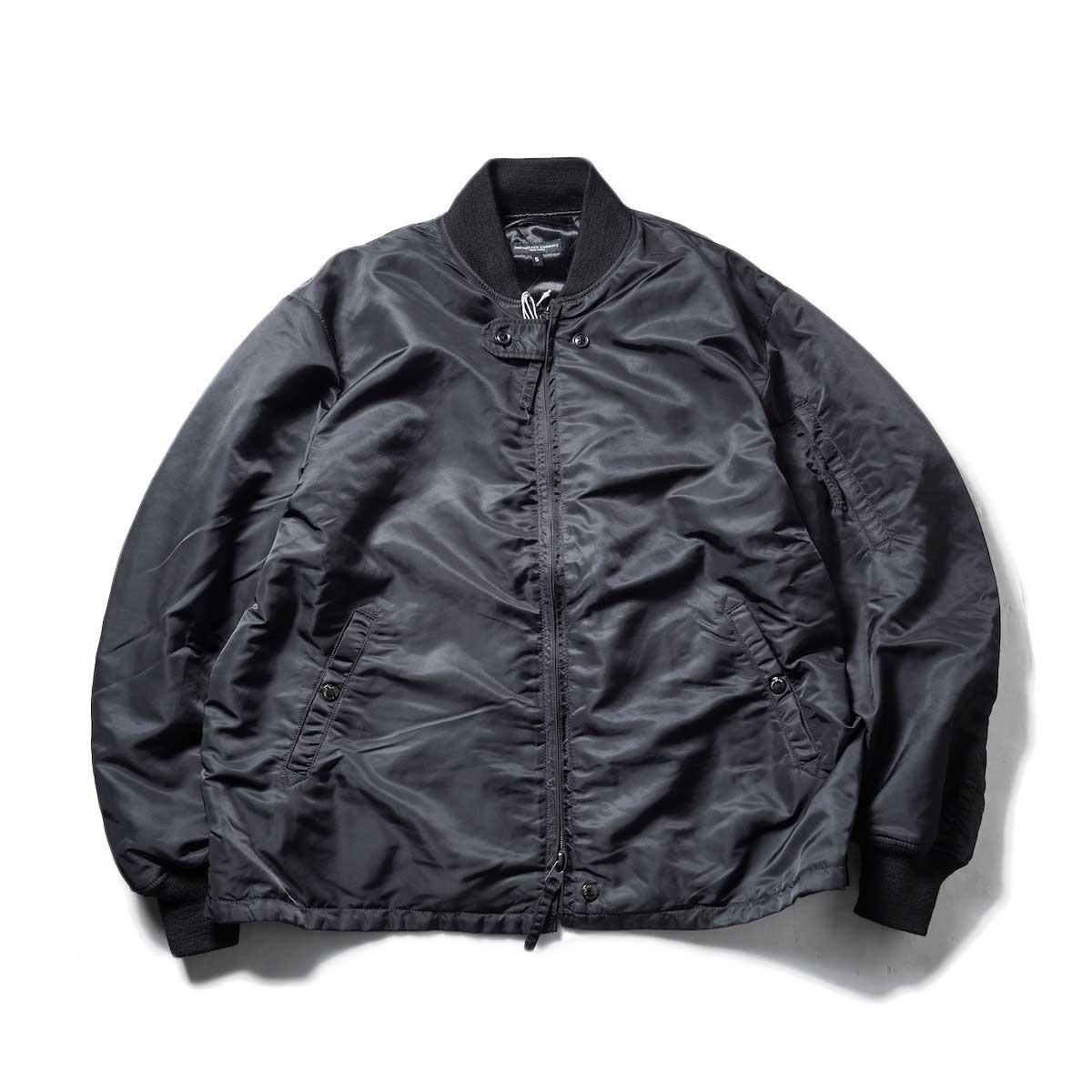 Engineered Garments / AVIATOR JACKET - FLIGHT SATIN NYLON (Black)