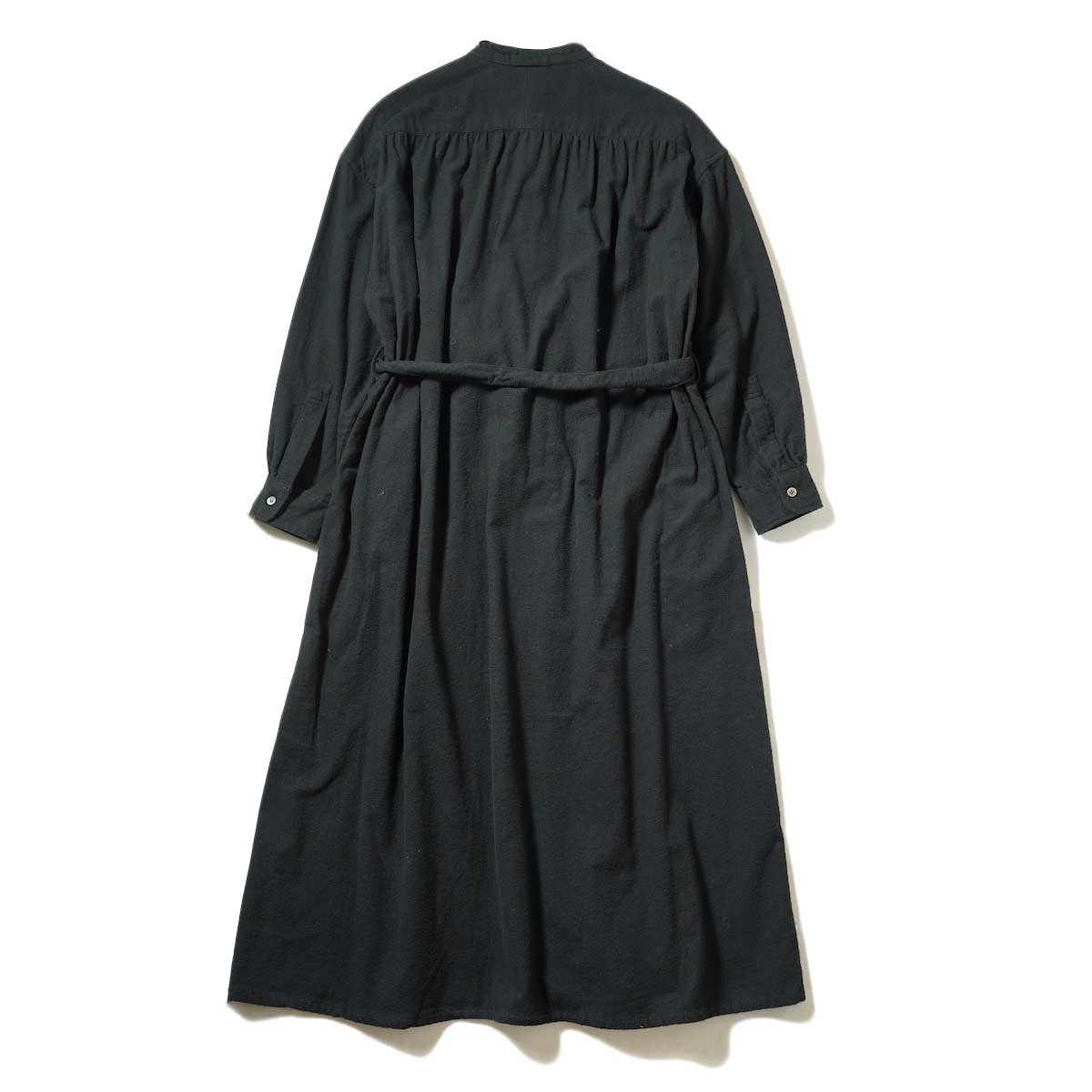 Engineered Garments / Banded Collar Dress (Black Solid Cotton Flannel) 背面