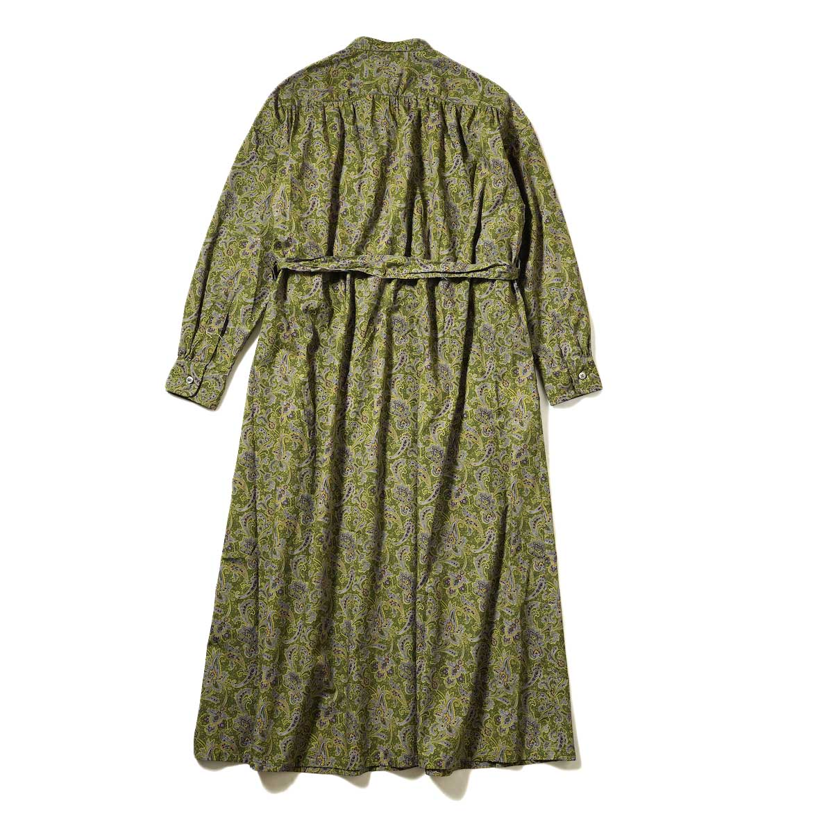 Engineered Garments / Banded Collar Dress (Olive / Purple Cotton Paisley Print) 背面