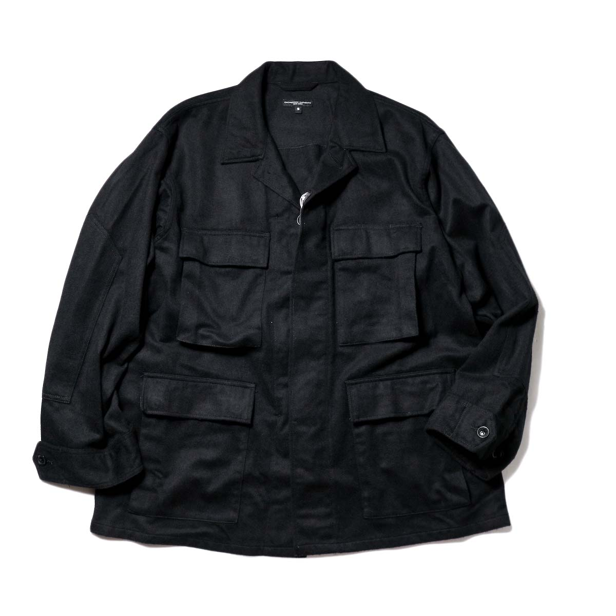 Engineered Garments / BDU Jacket w/c flannel (Black)