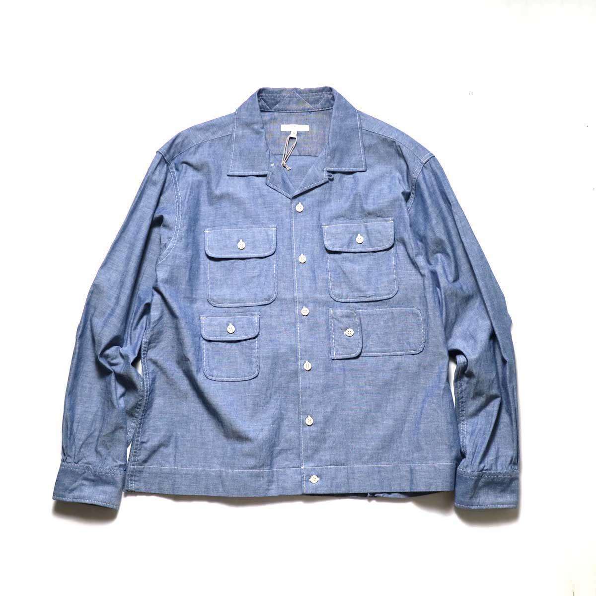 Engineered Garments / Bowling Shirt-Cotton Chambray (Blue)