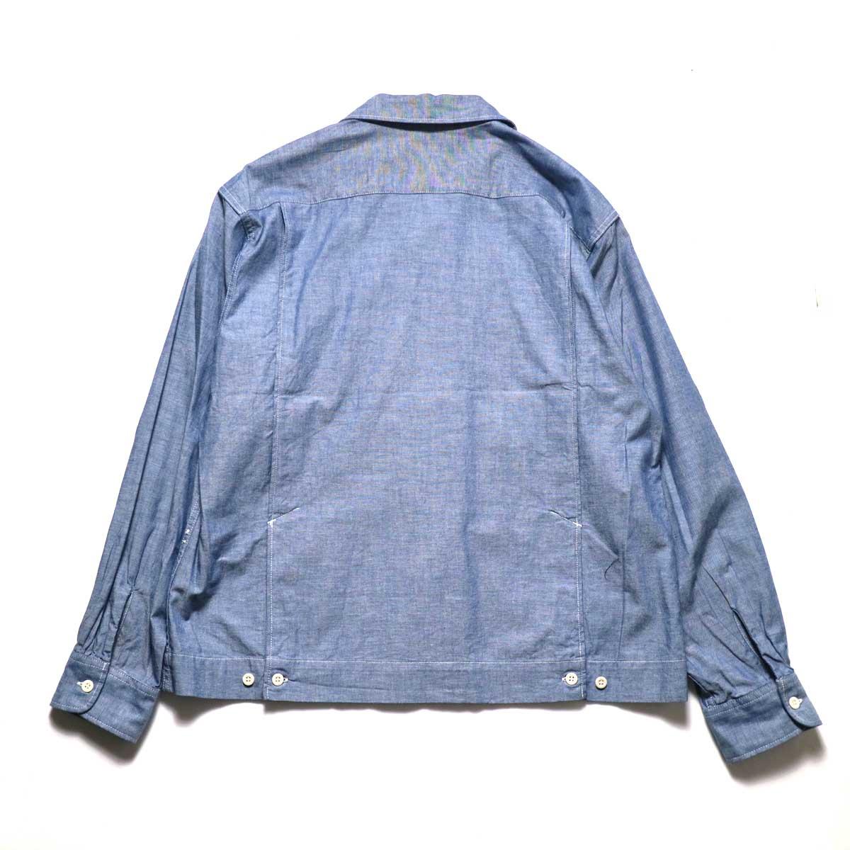 Engineered Garments / Bowling Shirt-Cotton Chambray (Blue)背面