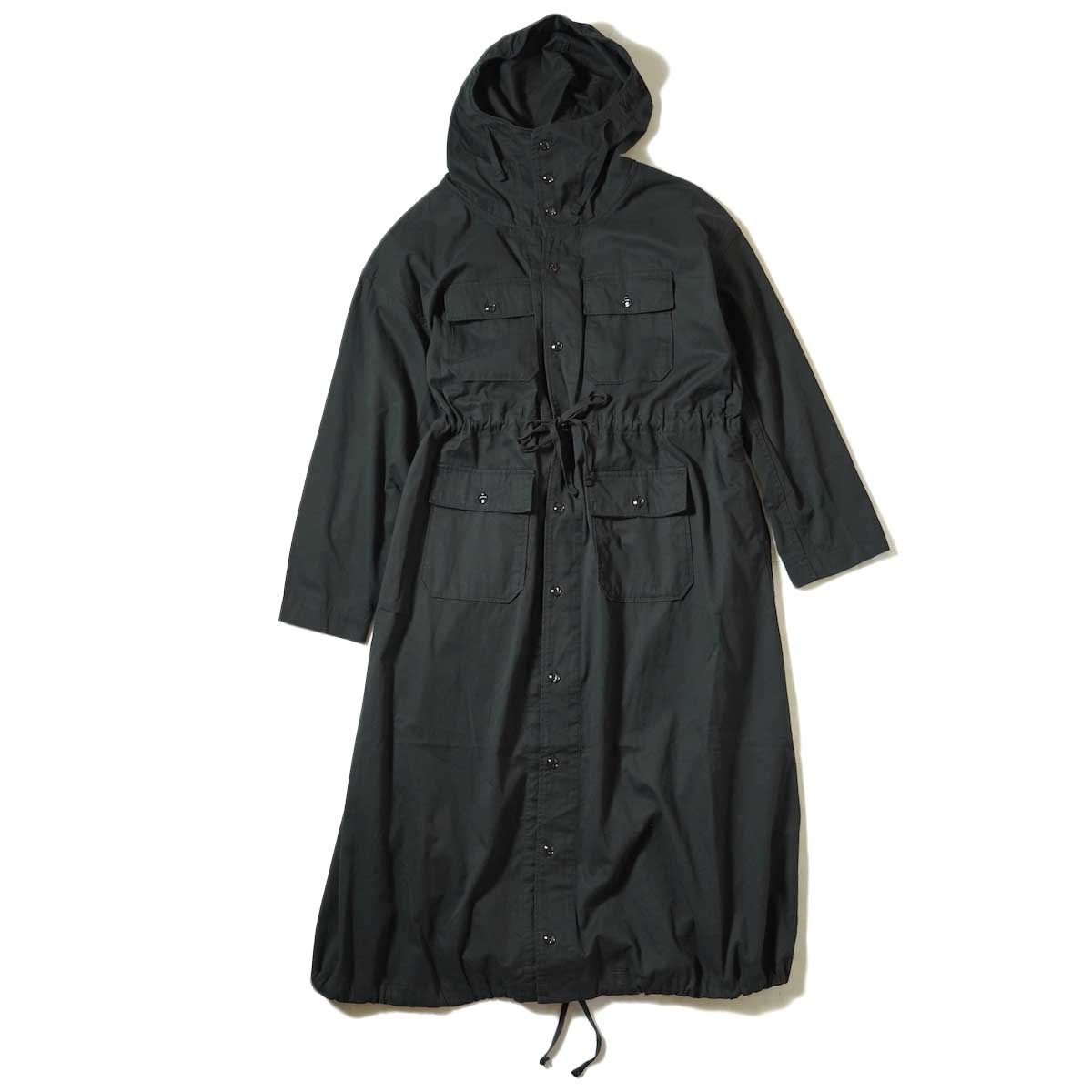 Engineered Garments / Cagoule Dress (Black Cotton Micro Sanded Twill)