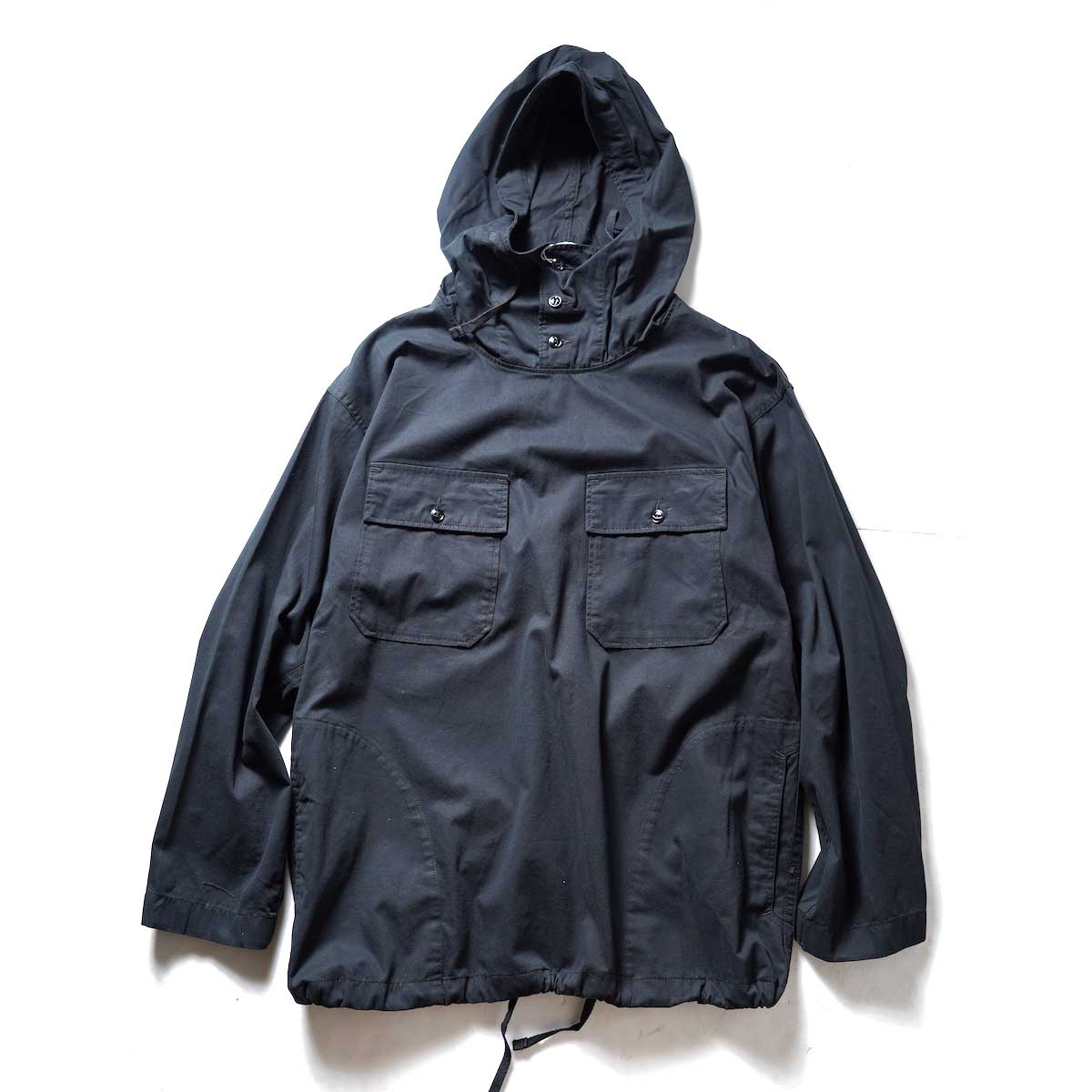 Engineered Garments / CAGOULE SHIRT - COTTON MICRO SANDED TWILL (Bladk)