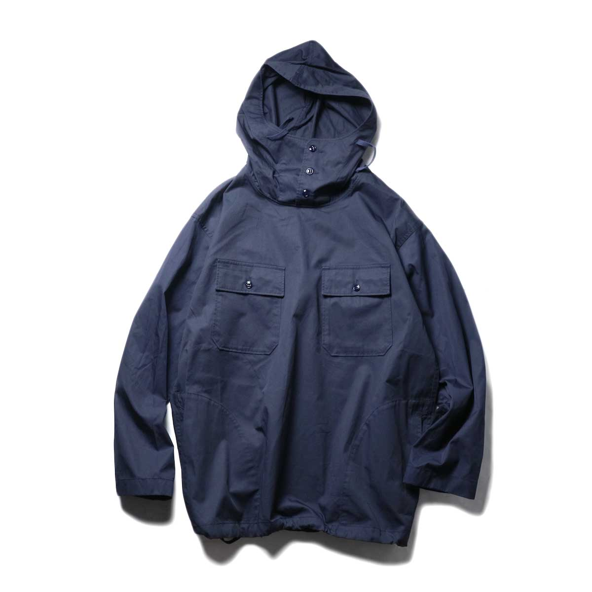 Engineered Garments / Cagoule Shirt -High Count Twill (Dk.Navy)正面