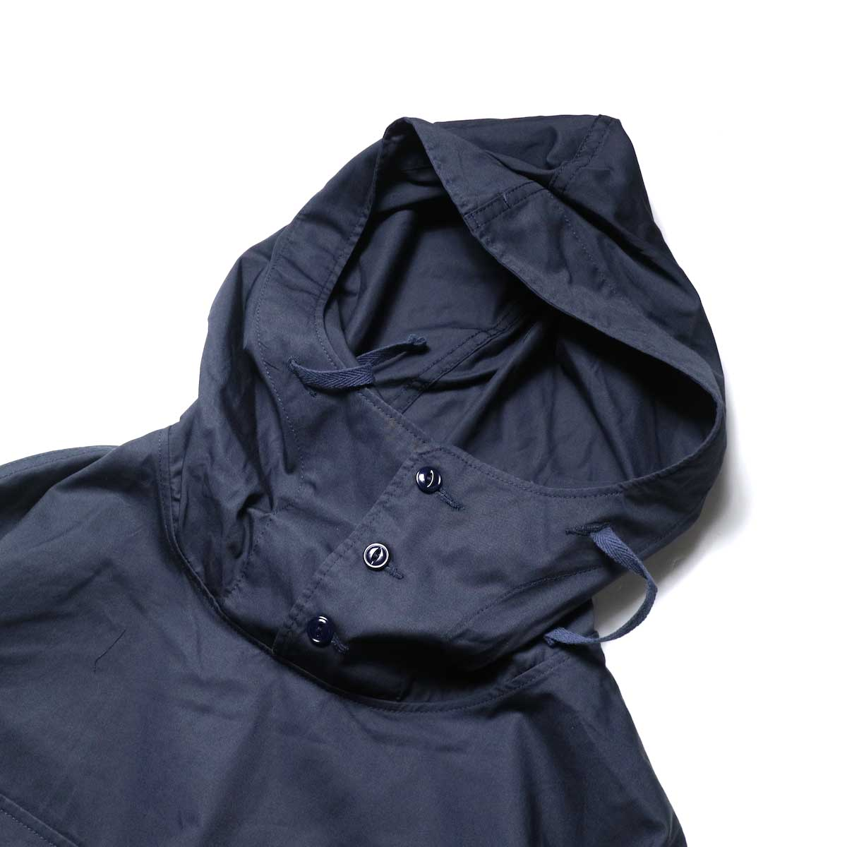 Engineered Garments / Cagoule Shirt -High Count Twill (Dk.Navy)フード