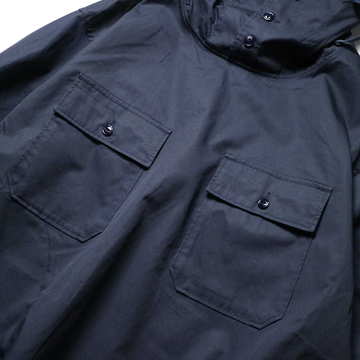 Engineered Garments / Cagoule Shirt -High Count Twill (Dk.Navy)ポケット