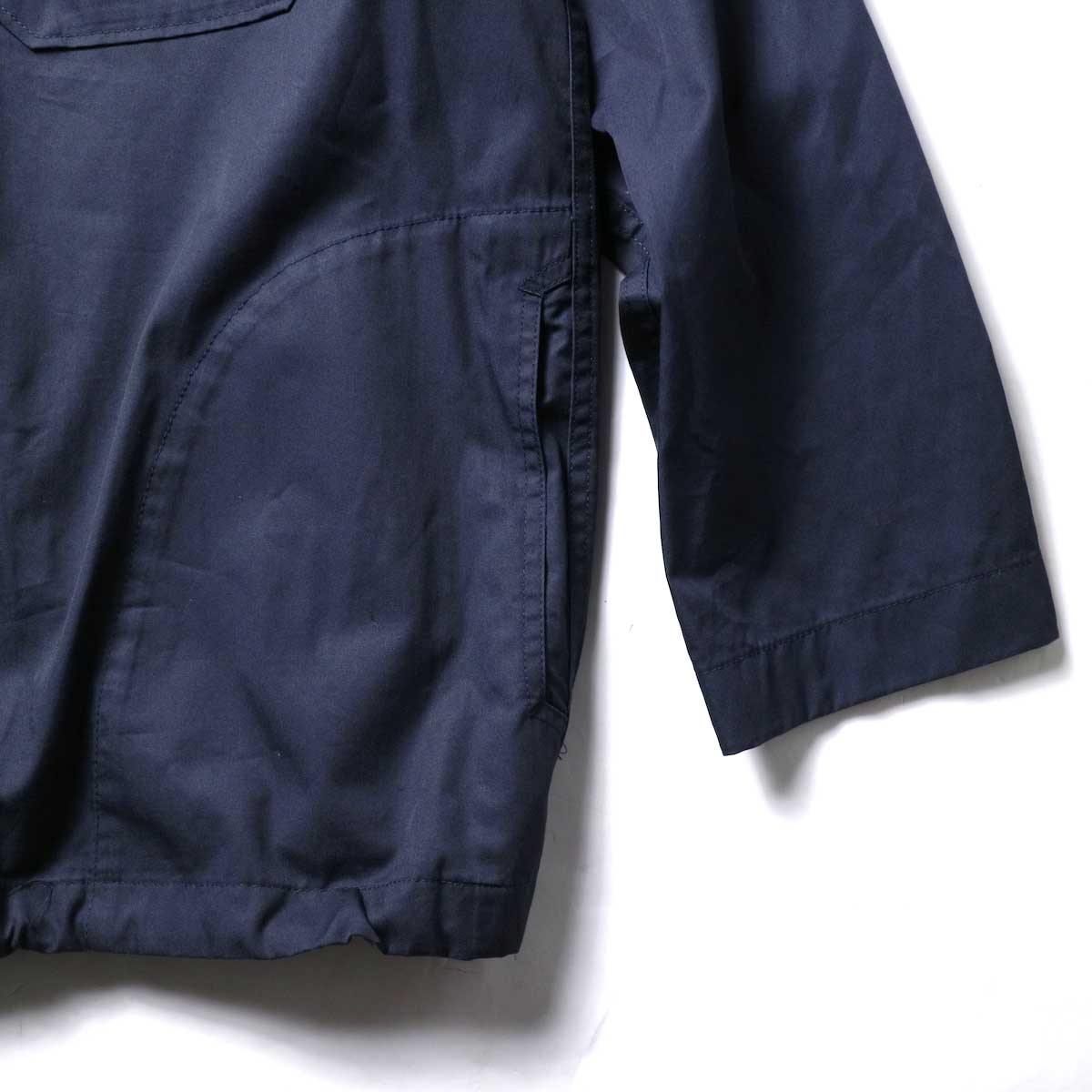 Engineered Garments / Cagoule Shirt -High Count Twill (Dk.Navy)ポケット、袖