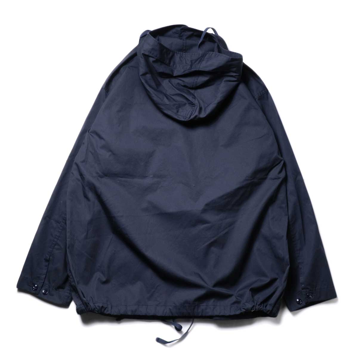 Engineered Garments / Cagoule Shirt -High Count Twill (Dk.Navy)背面