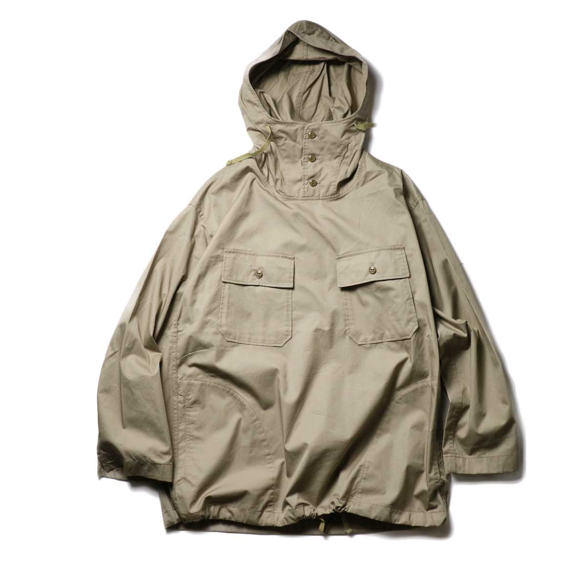 Engineered Garments / Cagoule Shirt -High Count Twill (Khaki)正面
