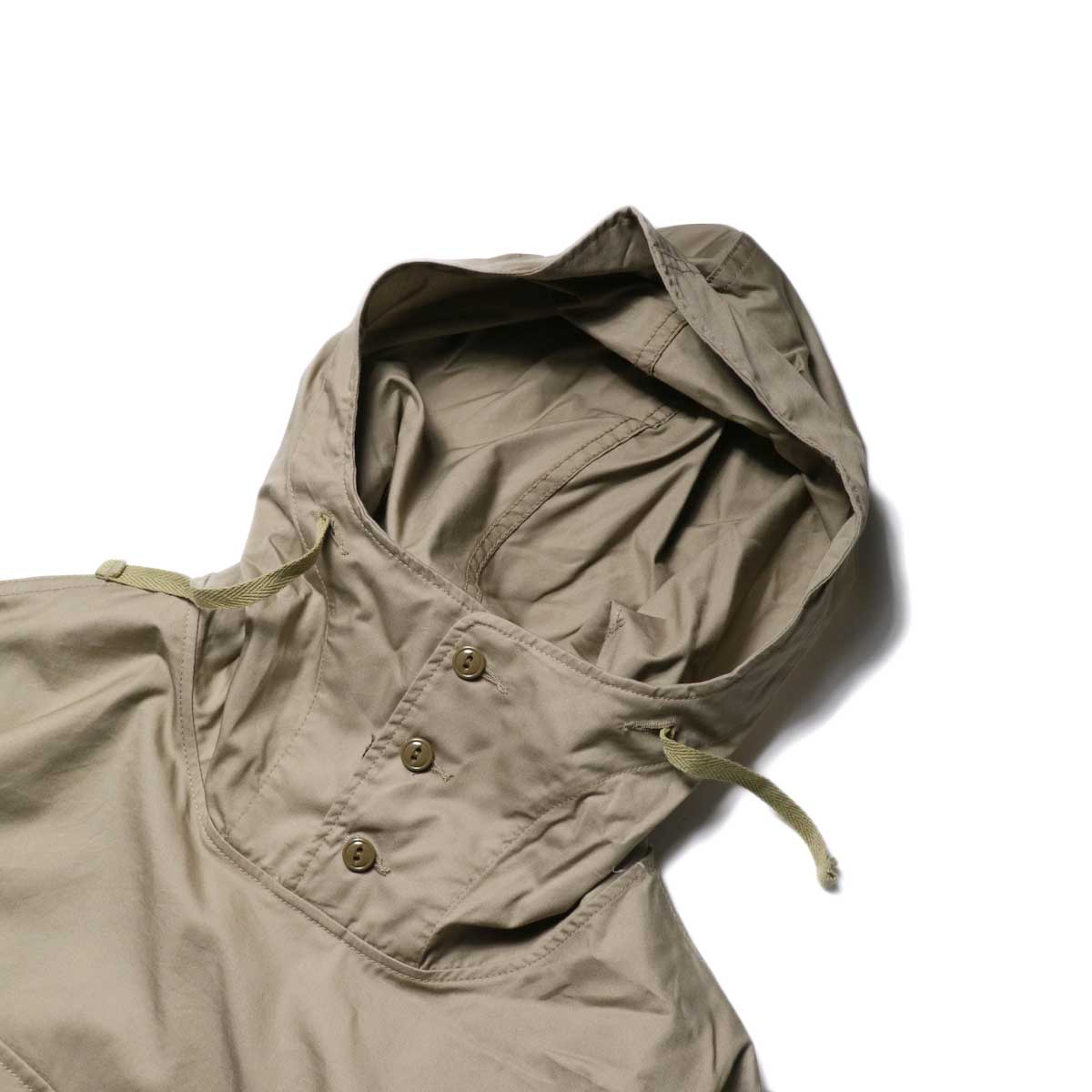 Engineered Garments / Cagoule Shirt -High Count Twill (Khaki)フード