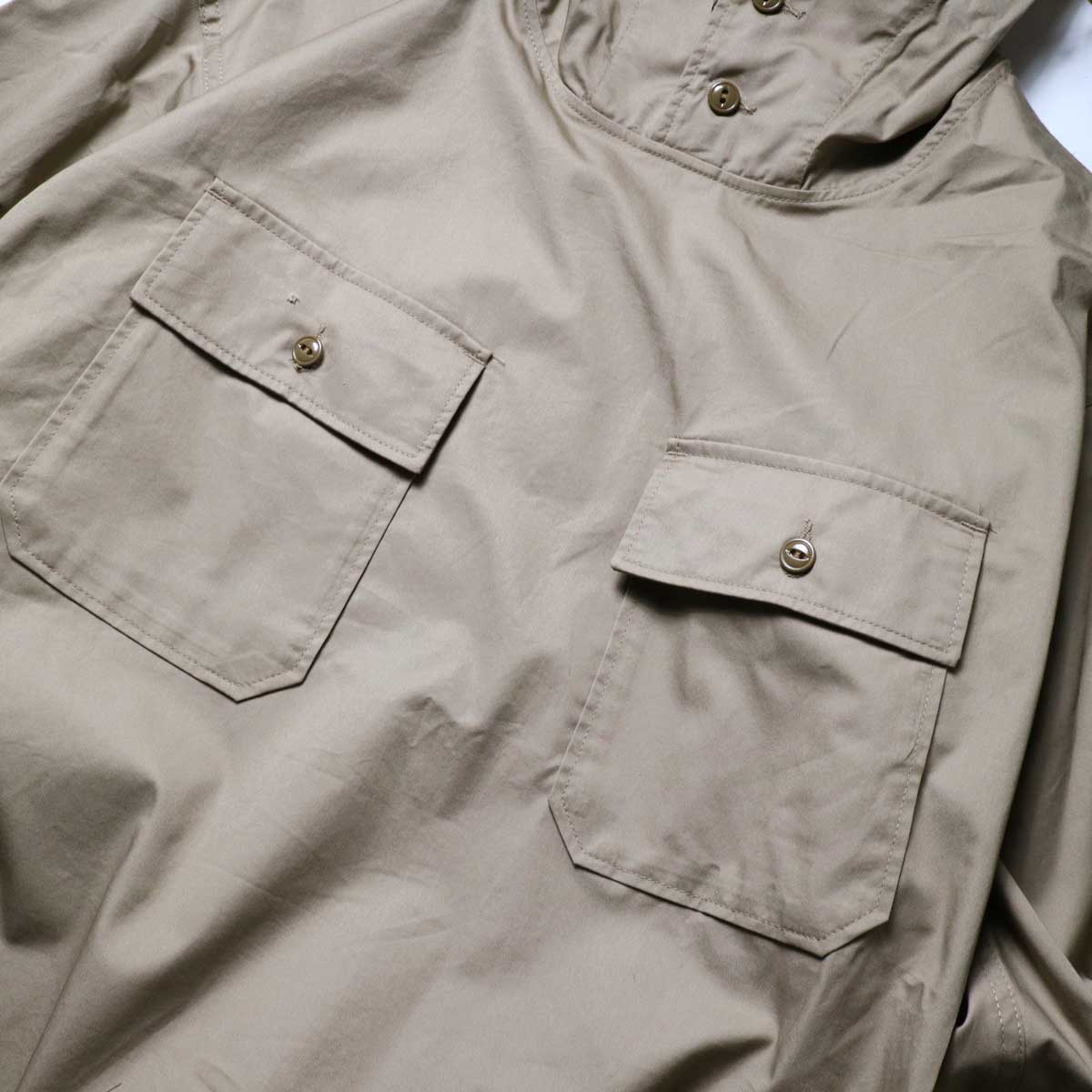 Engineered Garments / Cagoule Shirt -High Count Twill (Khaki)ポケット