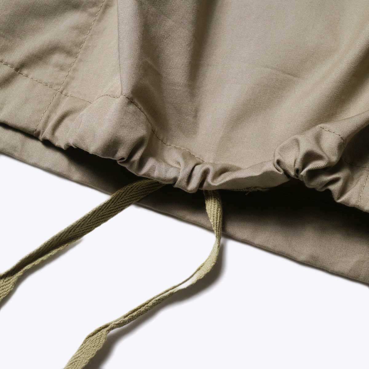 Engineered Garments / Cagoule Shirt -High Count Twill (Khaki)裾