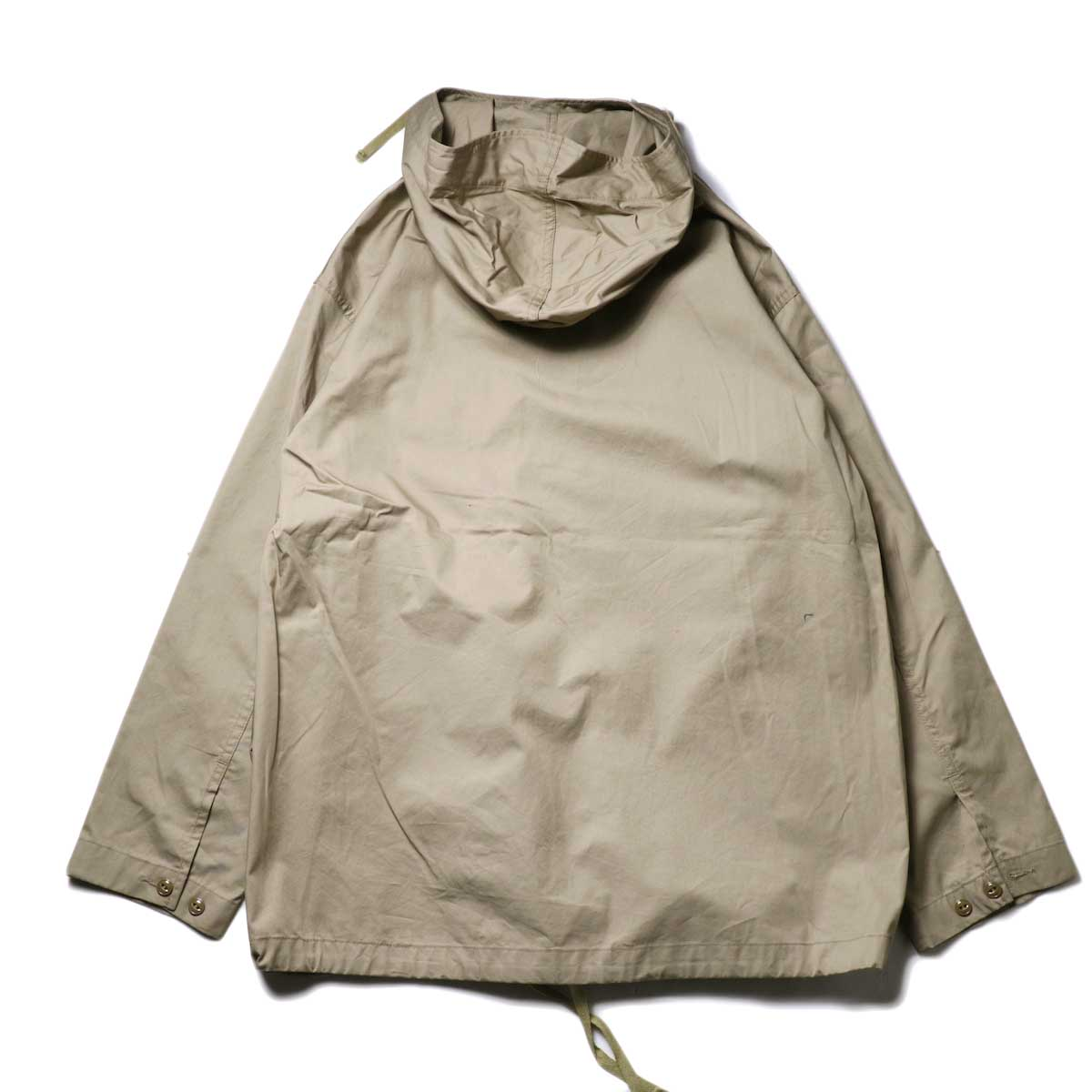 Engineered Garments / Cagoule Shirt -High Count Twill (Khaki)背面