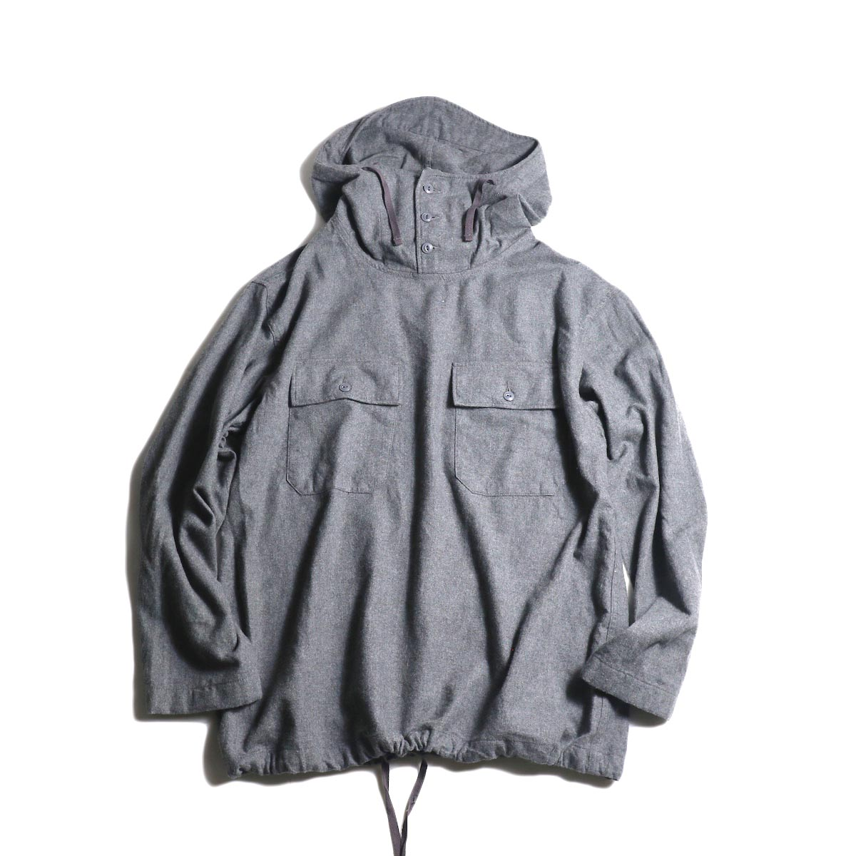 Engineered Garments / Cagoule Shirt -Brushed Twill (Dk.Gray)正面