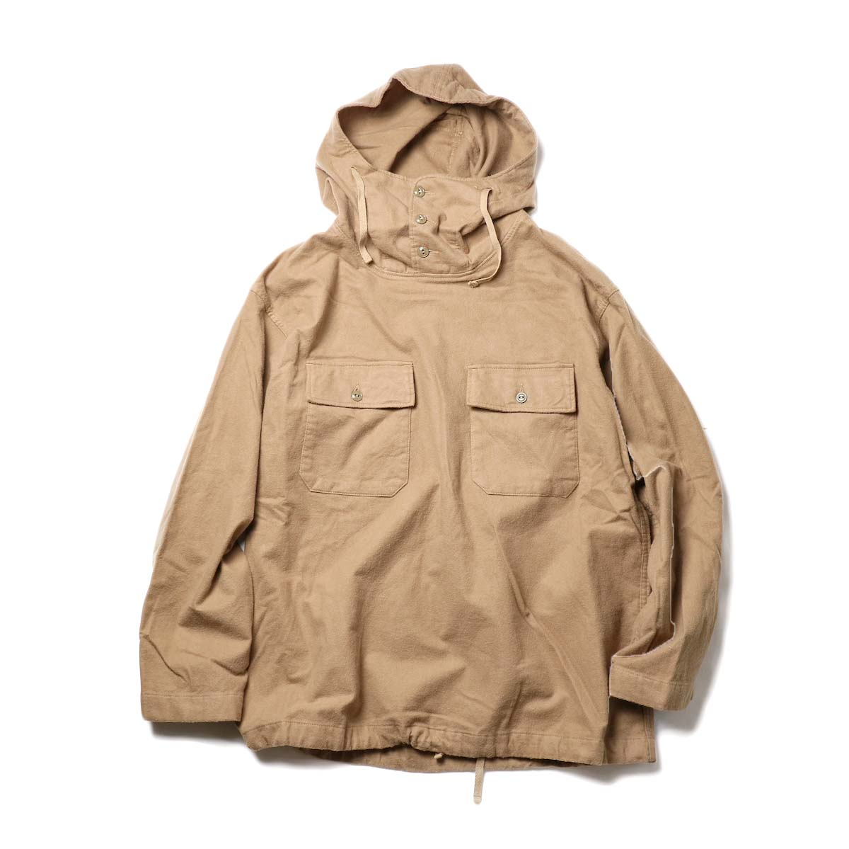 Engineered Garments / Cagoule Shirt -Brushed Twill (Khaki)