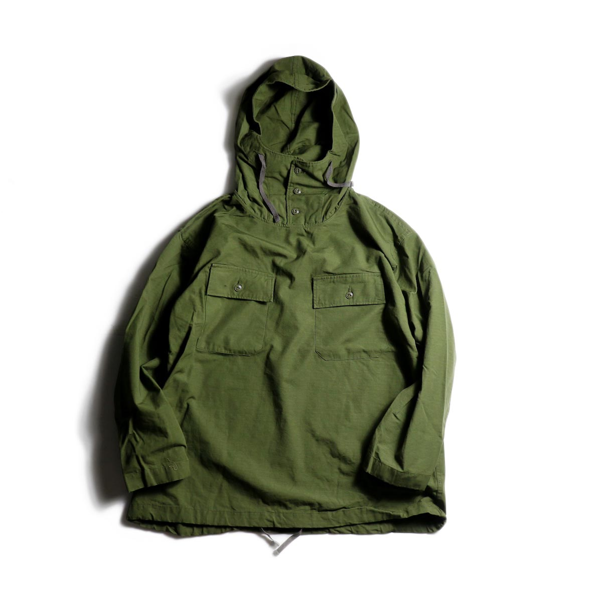 Engineered Garments / Cagoule Shirt -Drab Cotton Ripstop Olive
