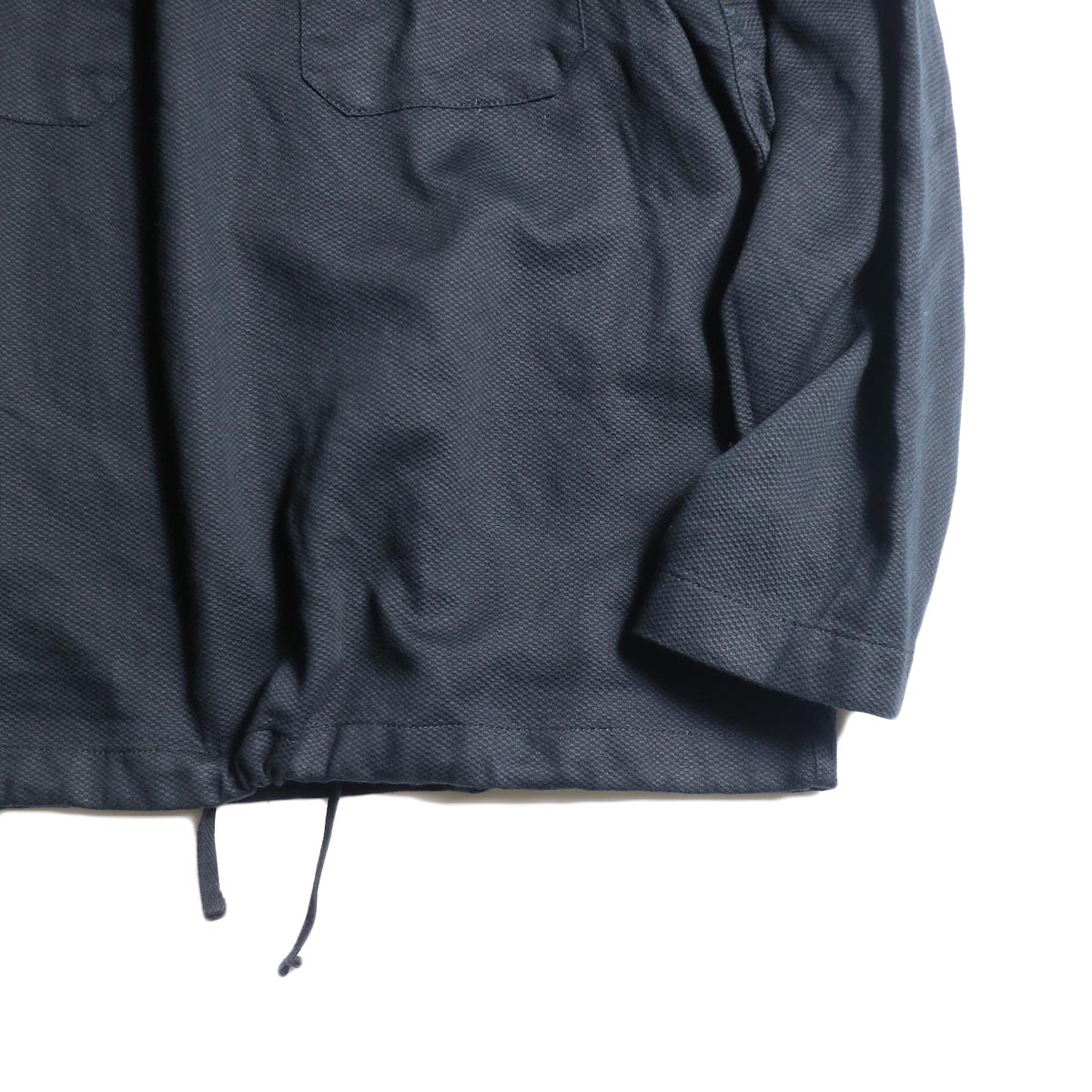 Engineered Garments / Cagoule Shirt -Waffle Pique (Black)袖、裾