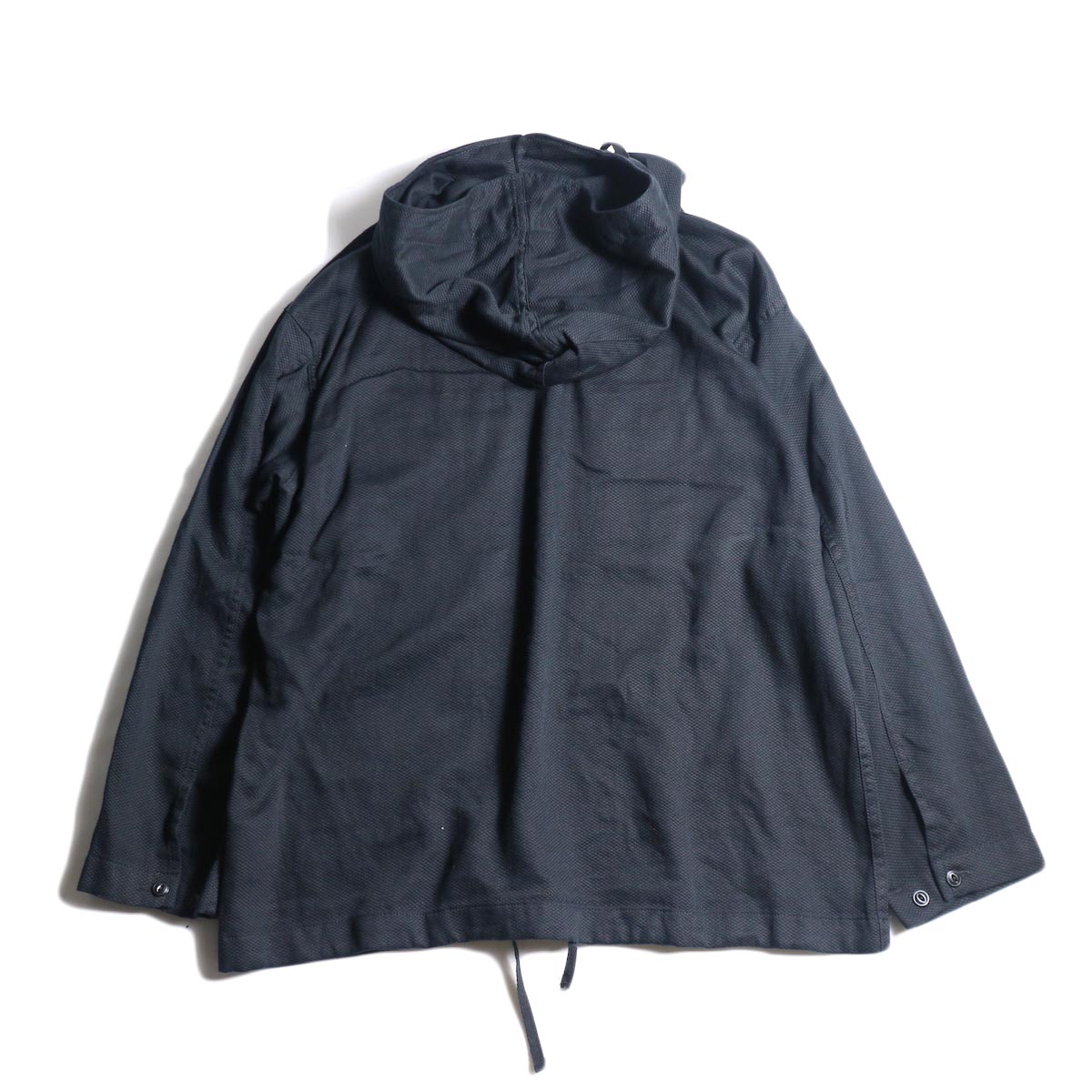 Engineered Garments / Cagoule Shirt -Waffle Pique (Black)背面