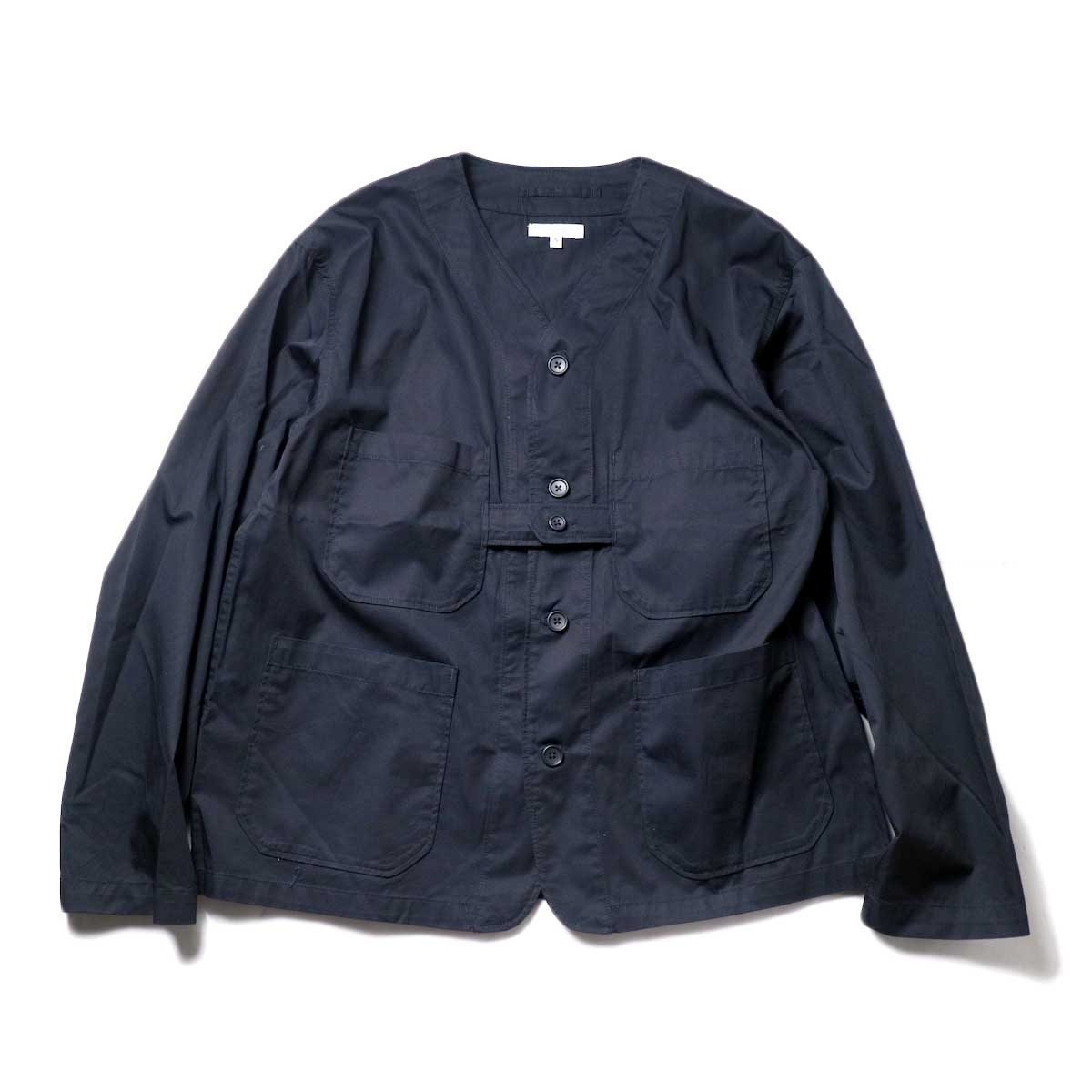 Engineered Garments / Cardigan Jacket -High Count Twill (Black)正面