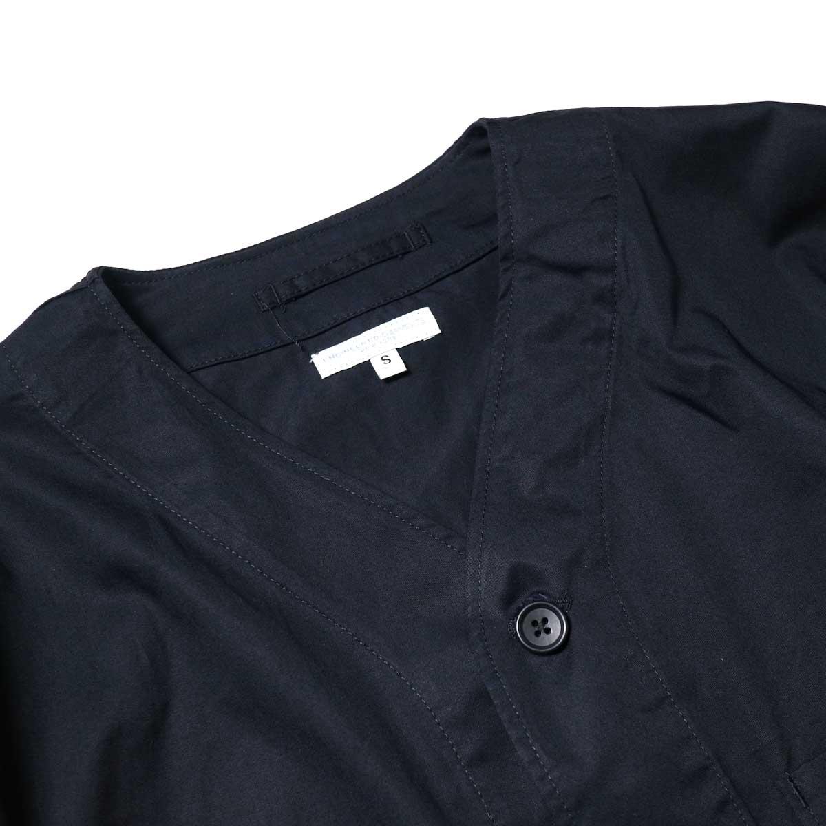 Engineered Garments / Cardigan Jacket -High Count Twill (Black)Vネック