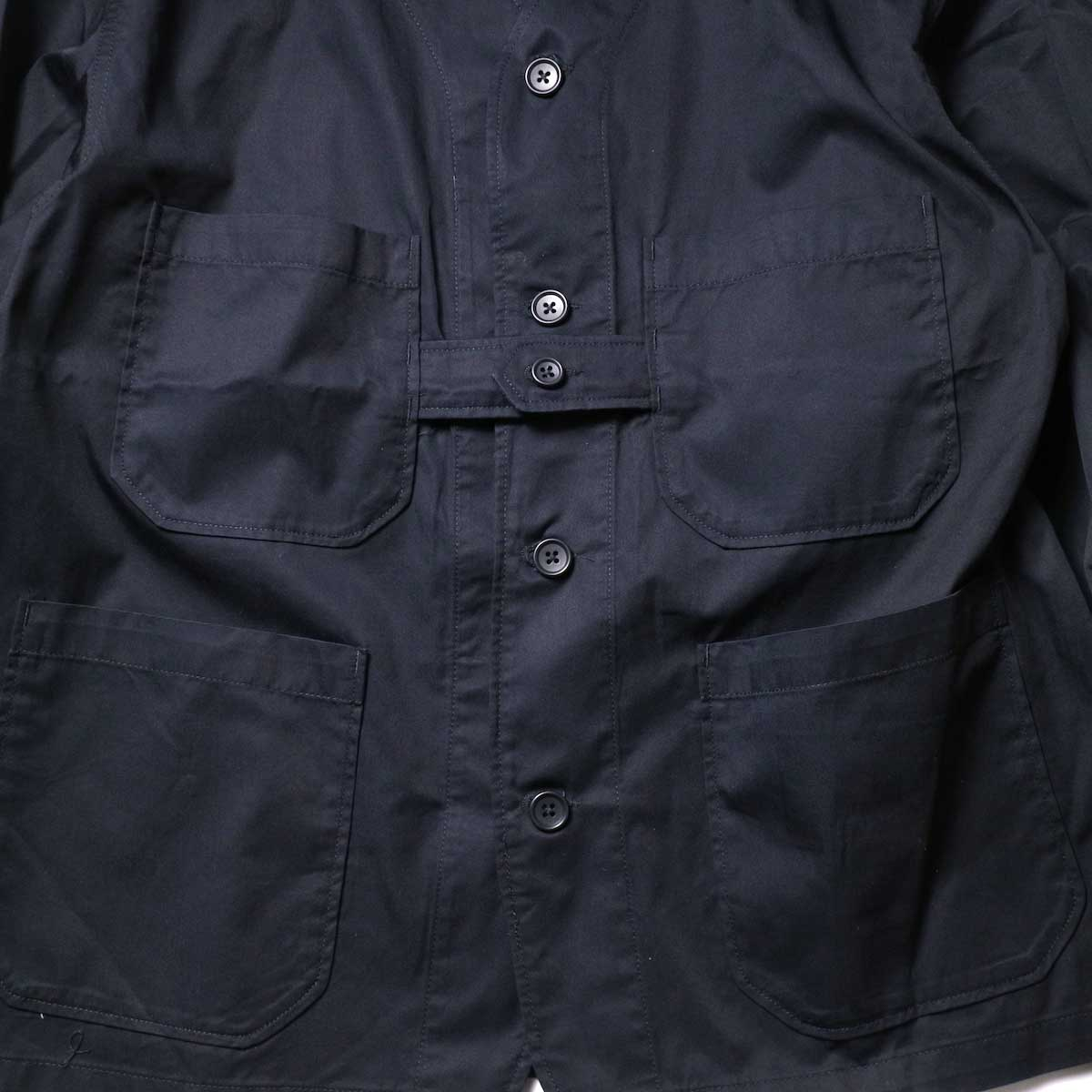 Engineered Garments / Cardigan Jacket -High Count Twill (Black)ポケット