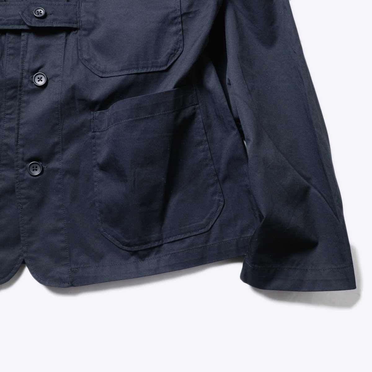 Engineered Garments / Cardigan Jacket -High Count Twill (Black)袖、裾