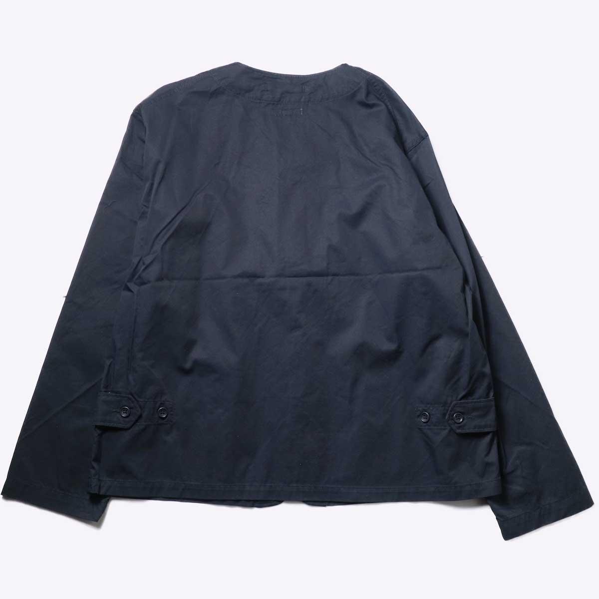 Engineered Garments / Cardigan Jacket -High Count Twill (Black)背面