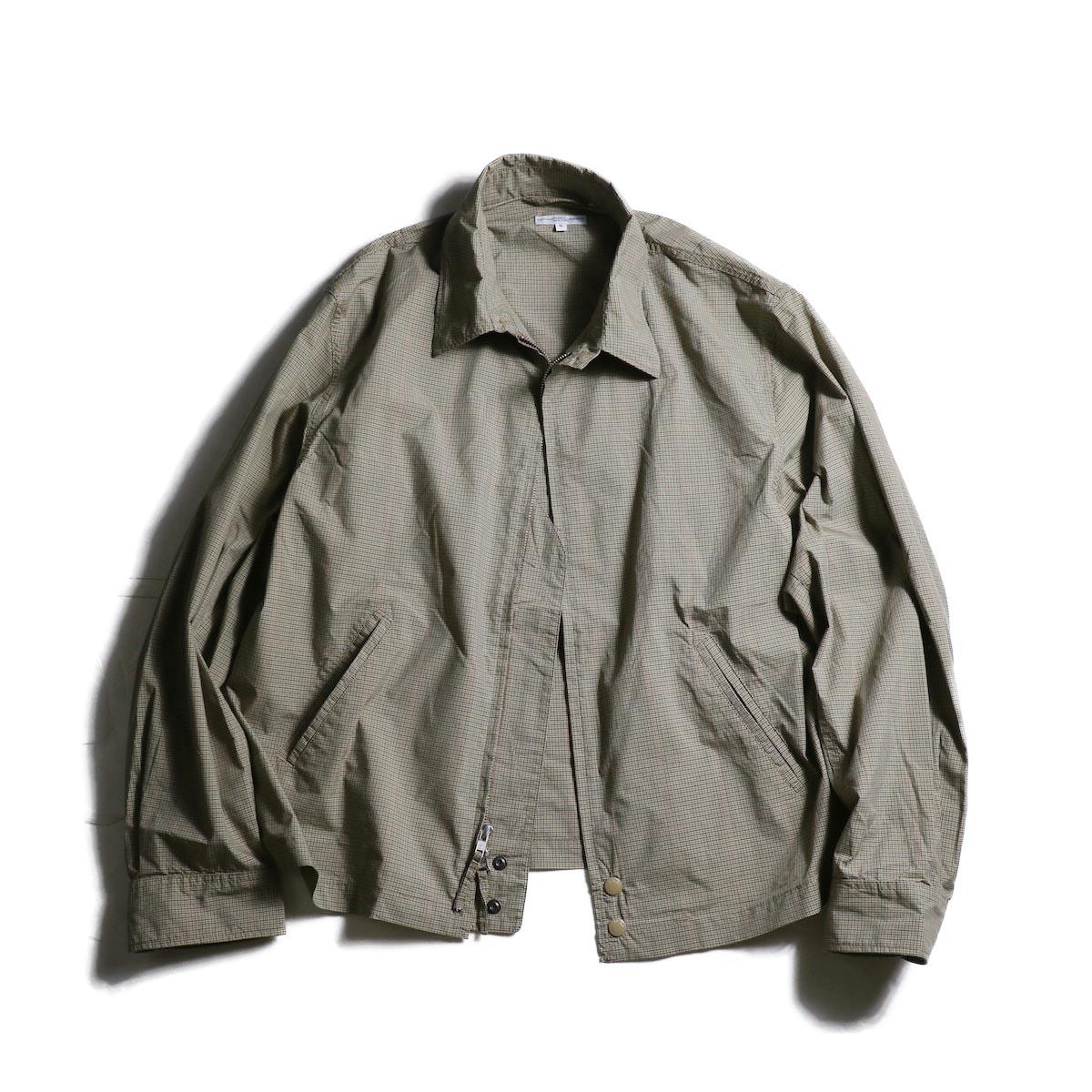 Engineered Garments / Claigton Jacket -Tyco Mini Tattersall (Khaki)