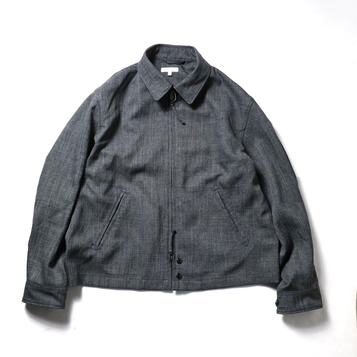 Engineered Garments / Claigton Jacket - Polyester Sharkskin (Charcoal)正面