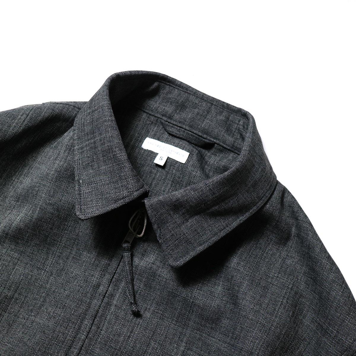 Engineered Garments / Claigton Jacket - Polyester Sharkskin (Charcoal)襟