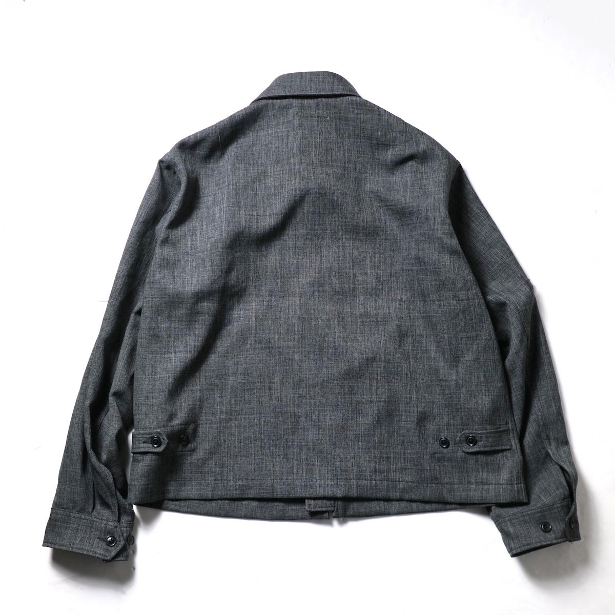 Engineered Garments / Claigton Jacket - Polyester Sharkskin (Charcoal)背面