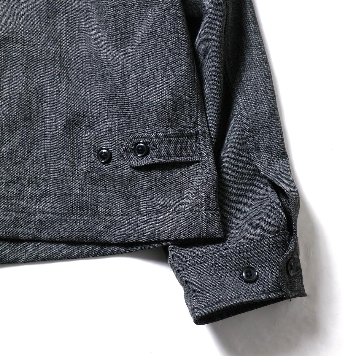 Engineered Garments / Claigton Jacket - Polyester Sharkskin (Charcoal)アジャスター、袖