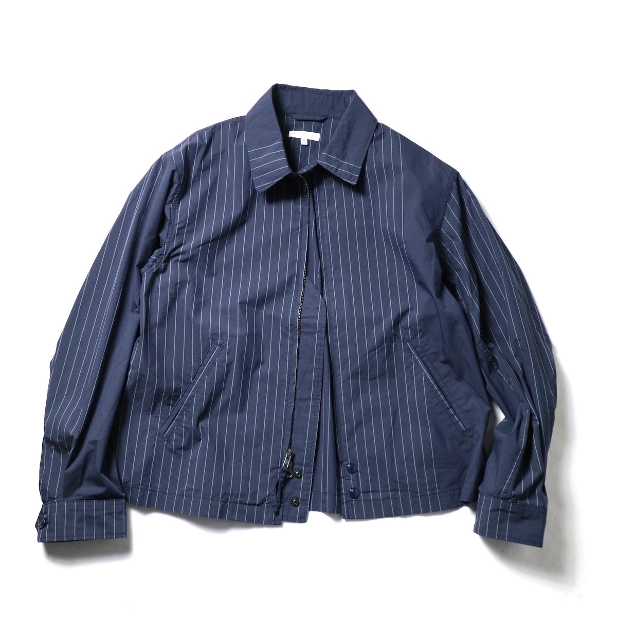Engineered Garments / Claigton Jacket - Nyco Gangster Stripe (Dk.Navy)