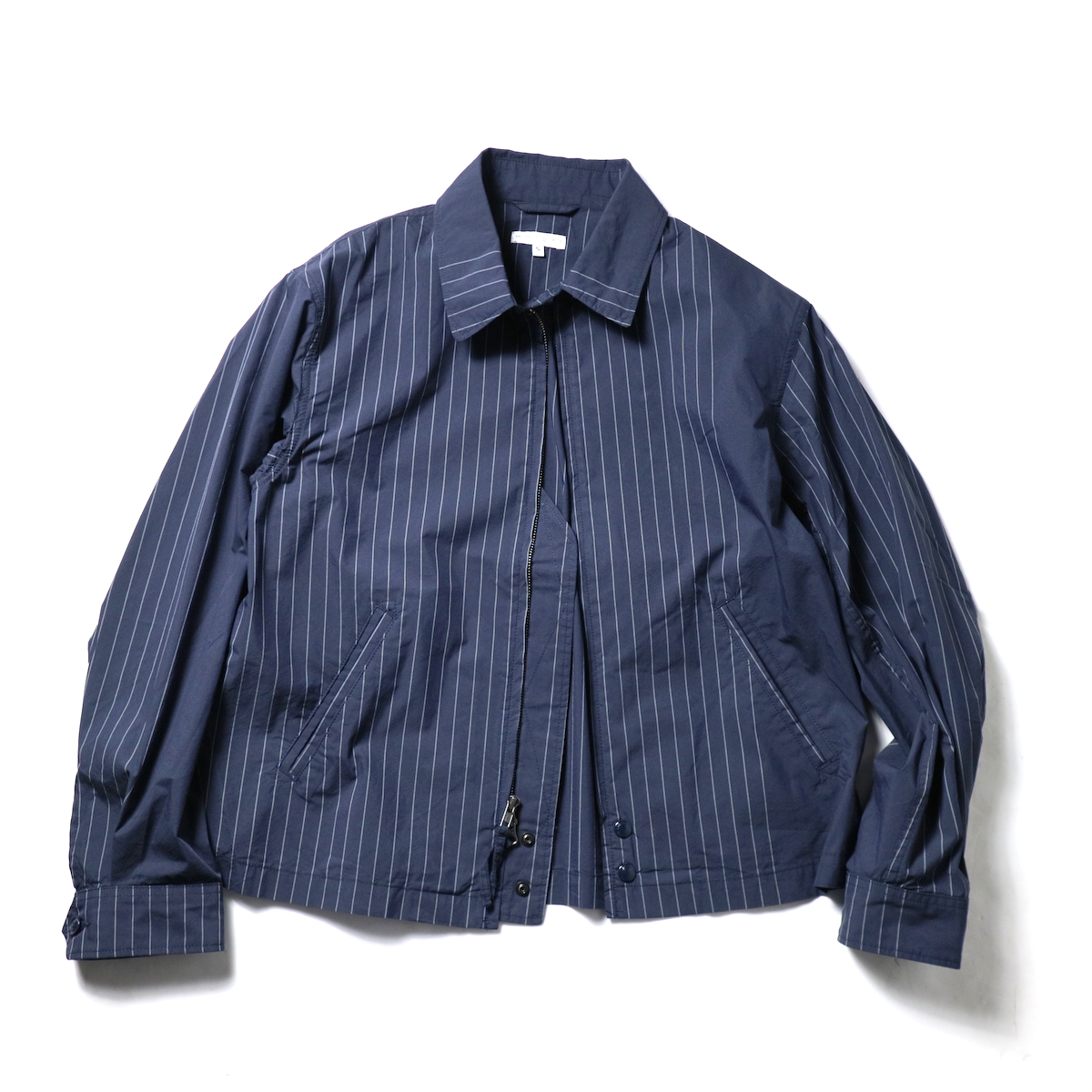 Engineered Garments / Claigton Jacket - Nyco Gangster Stripe (Dk.Navy)正面