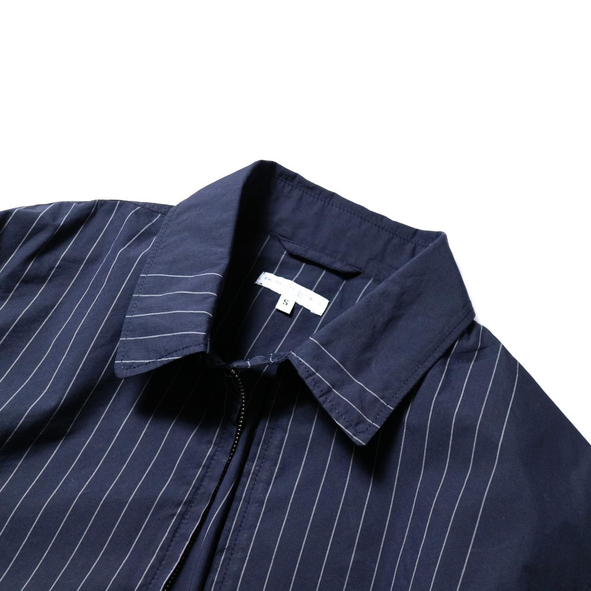 Engineered Garments / Claigton Jacket - Nyco Gangster Stripe (Dk.Navy)襟