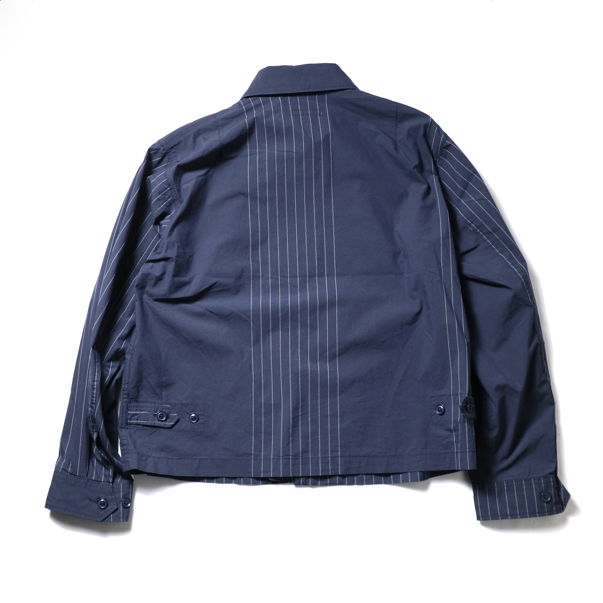 Engineered Garments / Claigton Jacket - Nyco Gangster Stripe (Dk.Navy)背面