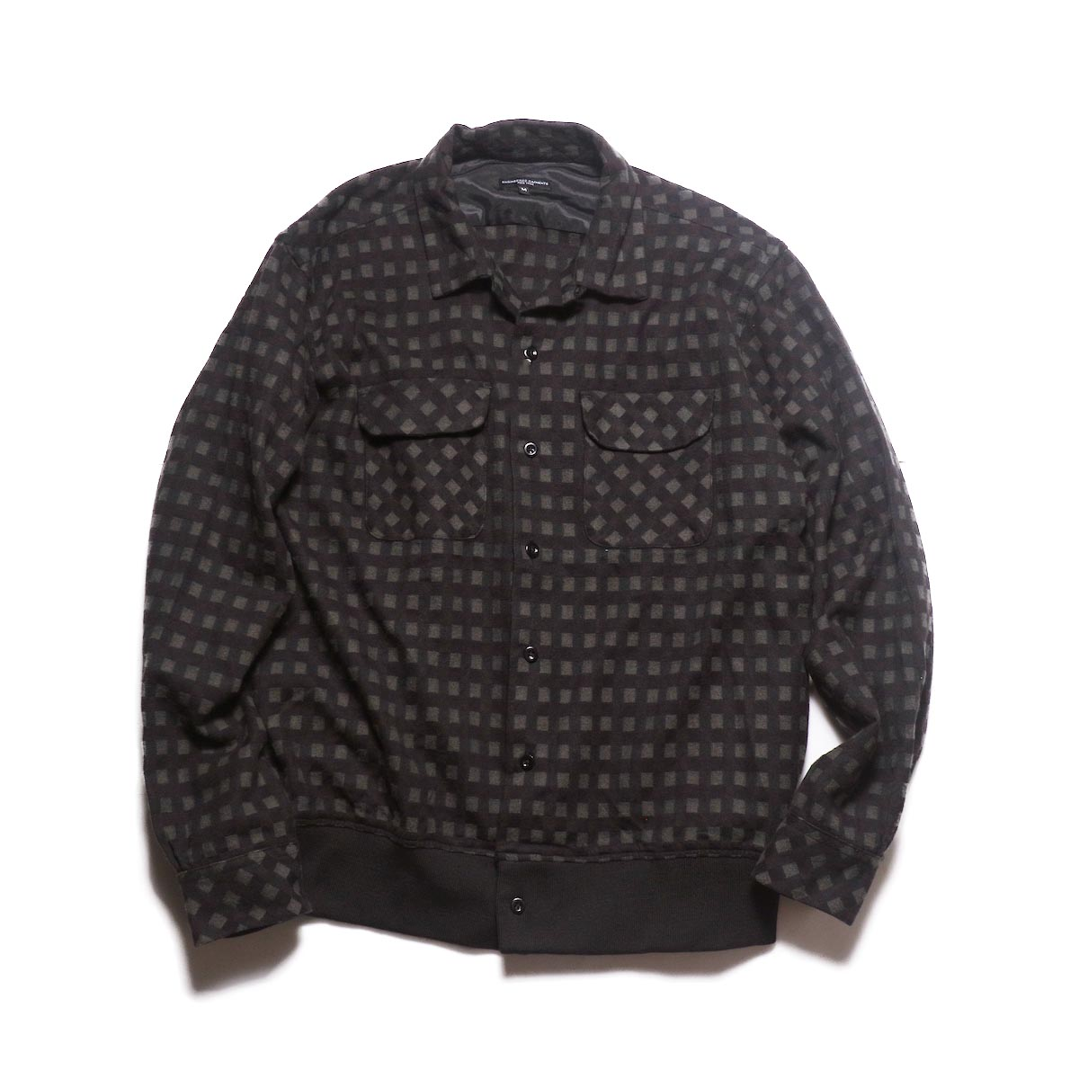 Engineered Garments / Classic Shirt -Vintage Check (Black / Brown)
