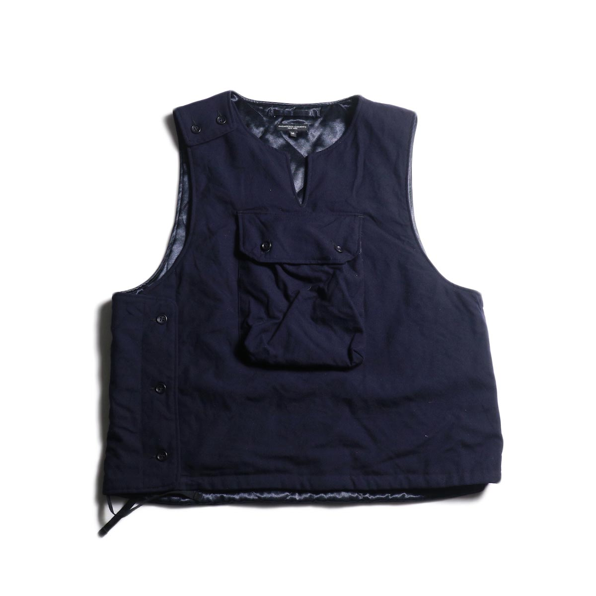 Engineered Garments / Cover Vest -Uniform Serge (Dk.Navy)