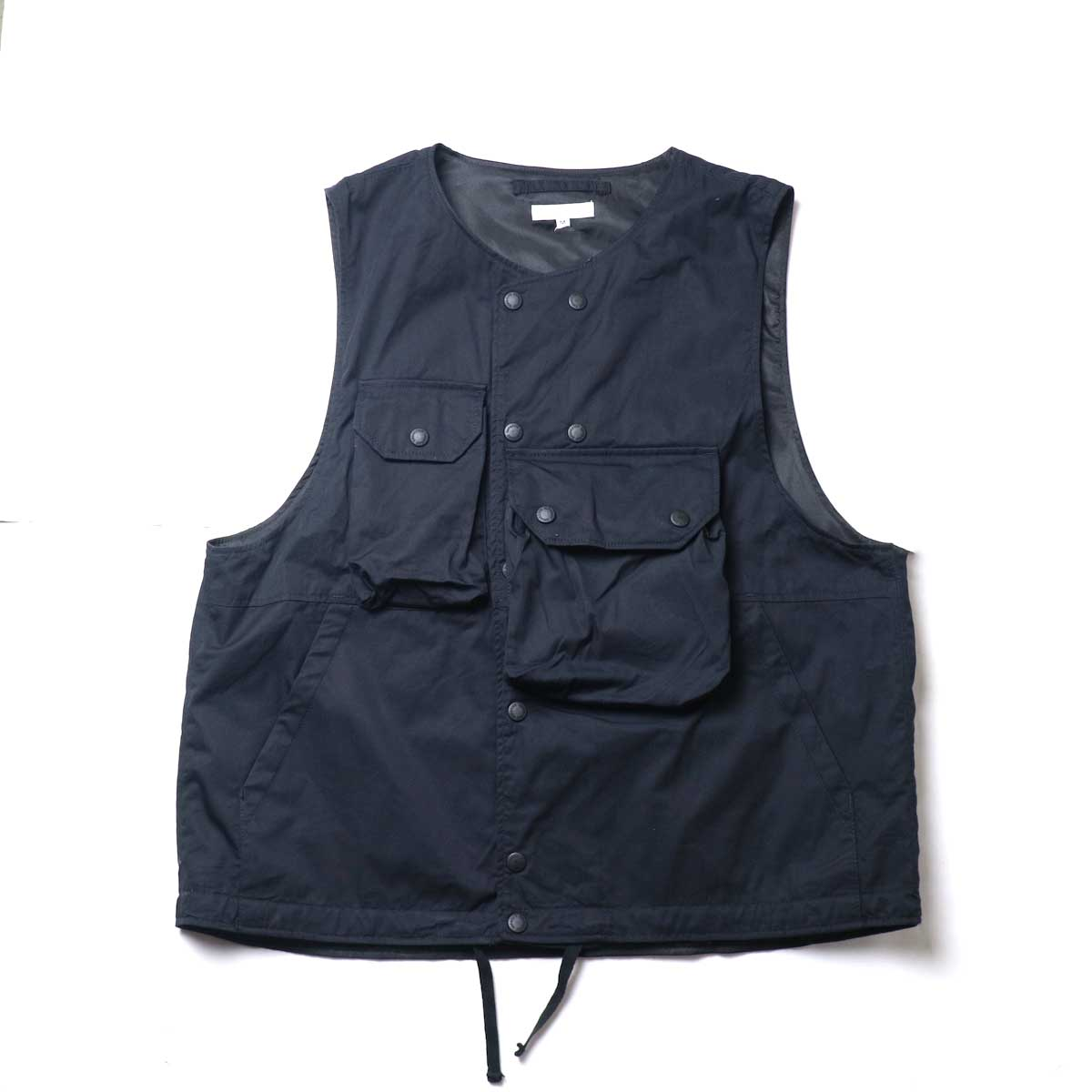 Engineered Garments / Cover Vest -High Count Twill (Black)正面