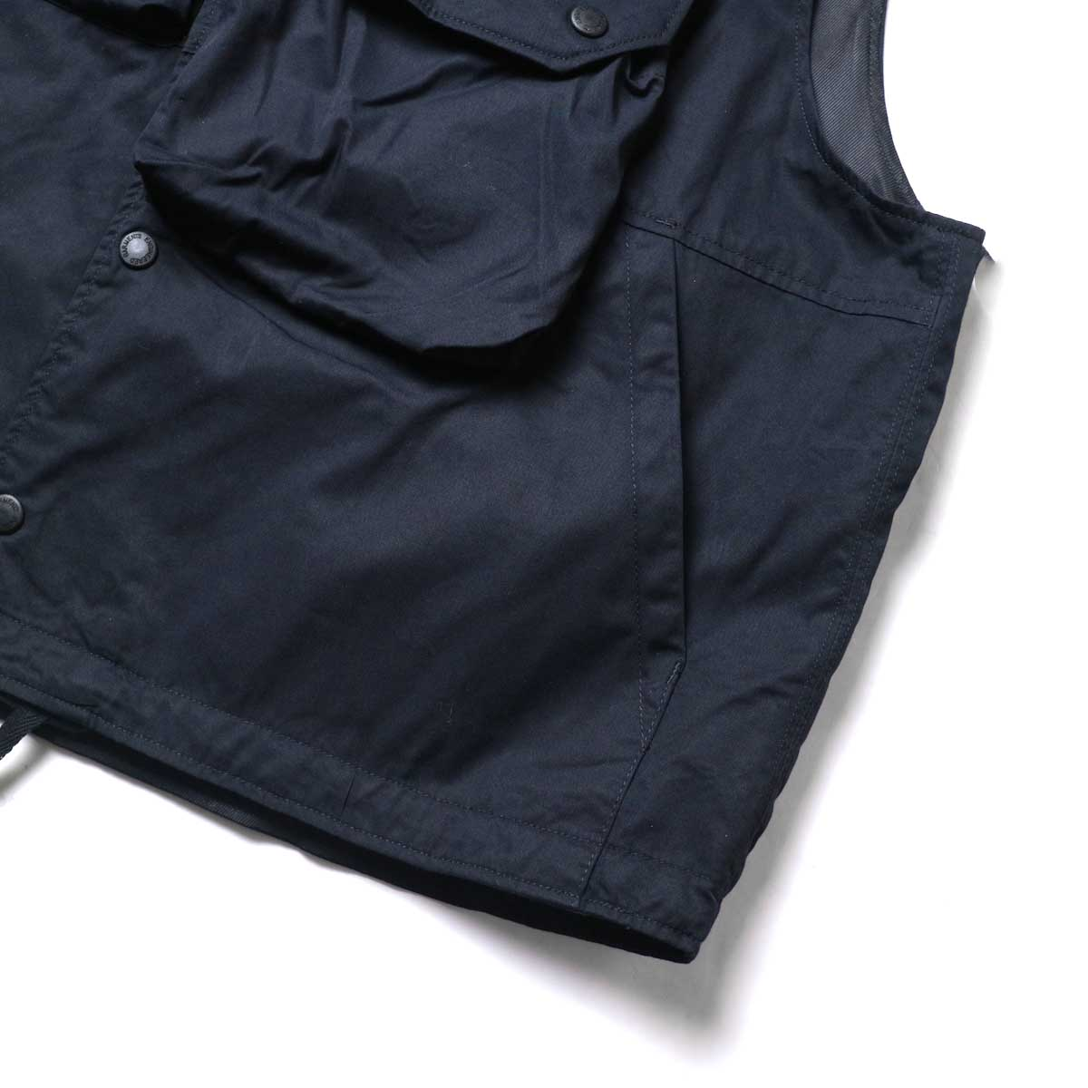 Engineered Garments / Cover Vest -High Count Twill (Black)ポケット