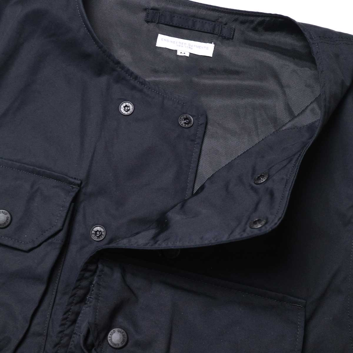 Engineered Garments / Cover Vest -High Count Twill (Black)ボタン