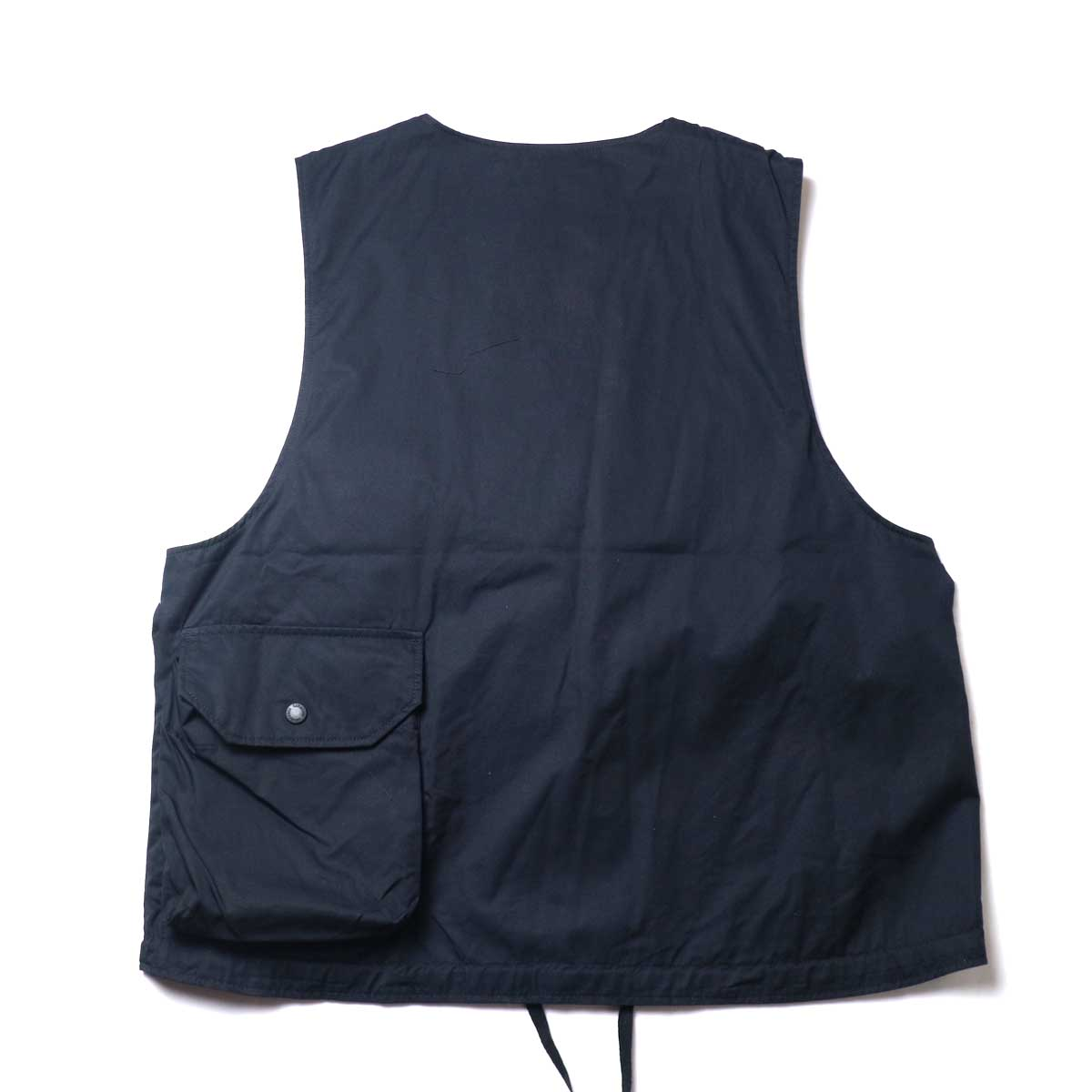 Engineered Garments / Cover Vest -High Count Twill (Black)背面