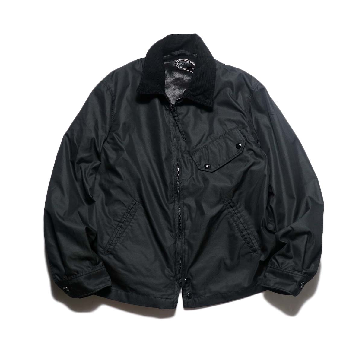 Engineered Garments / Driver Jacket - Pc Iridescent Twill (Black)正面