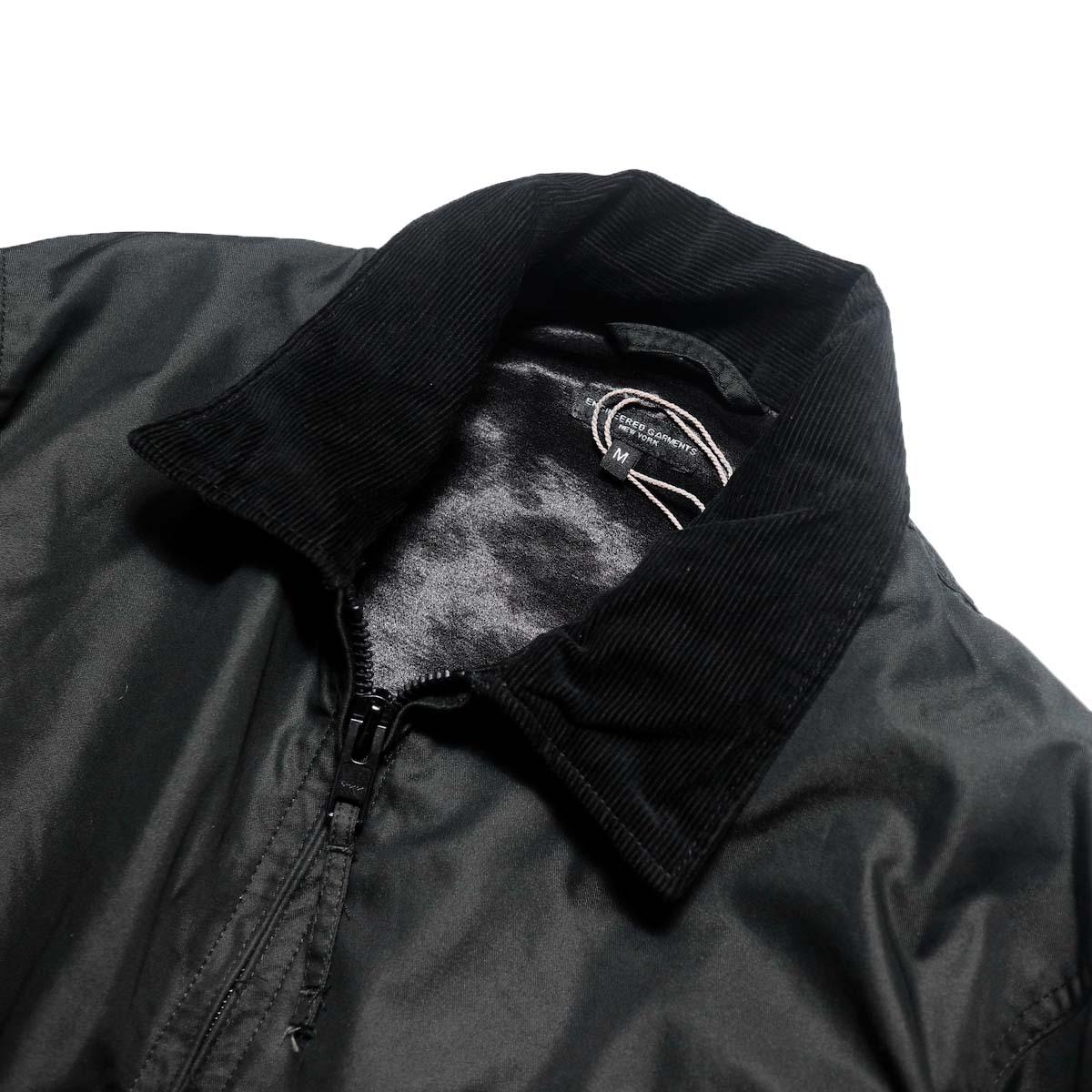 Engineered Garments / Driver Jacket - Pc Iridescent Twill (Black)襟